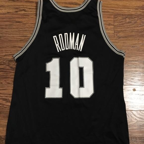 8477bfd04406 Champion Other - ⚪ ⚫ Dennis Rodman - Spurs Jersey ...
